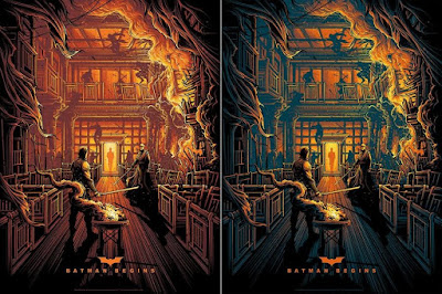 Batman Begins Screen Print by Dan Mumford x Bottleneck Gallery