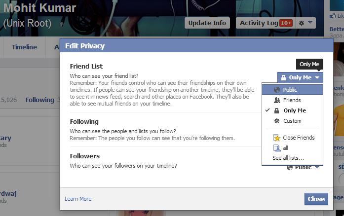 Facebook vulnerability allows to view hidden Facebook Friend