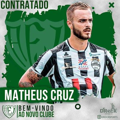 Jataiense confirma a contratação do meia Matheus Cruz e mais três jogadores