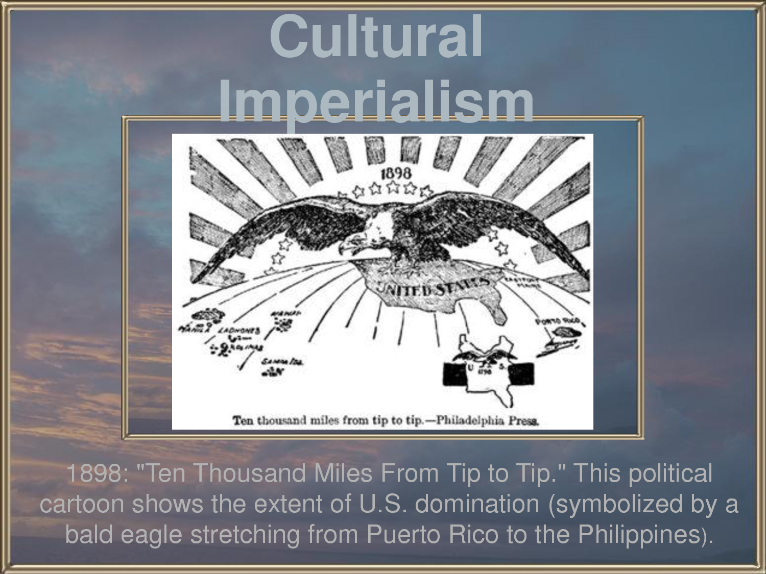 globalization or cultural imperialism essay Concept of deterritorialization as the cultural condition of globalization i argue   influence, this essay first addresses the early theories of cultural imperialism.