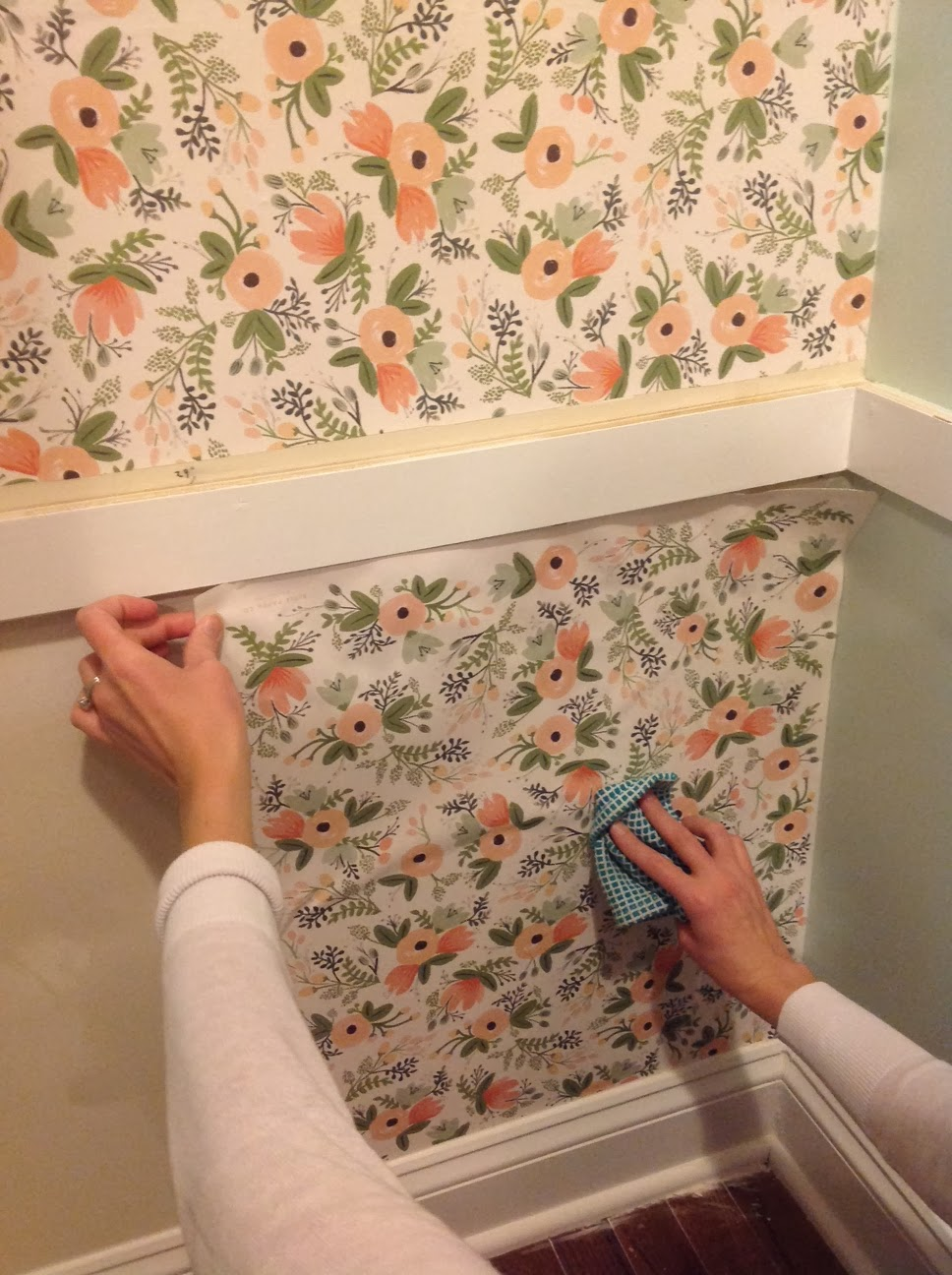 Right Up My Alley How To Wallpaper With Wrapping Paper