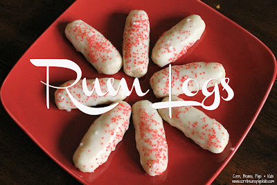 Rum Logs are the perfect addition to any Christmas Cookie Platter.  They're light, slightly sweet, soft and will melt in your mouth! #ChristmasCookies