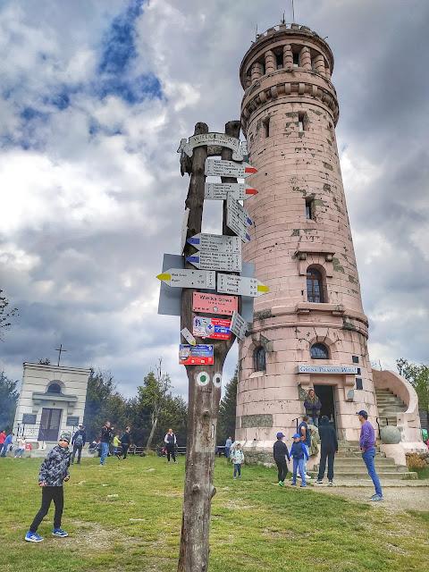 szlaki na Wielką Sowę, widok na znaki, schronisko