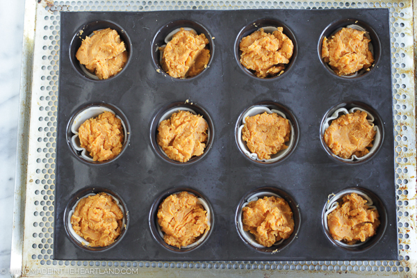 how to make easy sweet potato casserole cups