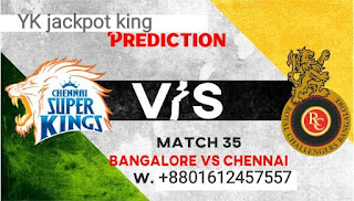 Today match prediction RCB vs CSK 35th match. Who will Win Today's game? Win forecast CSK vs RCB Ball by ball all cricket win tips. Match toss astrology. IPL all match prediction. Cricket Match Prediction 100% sure The 35th match of IPL 2021 is going to be played