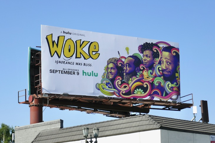 Woke Hulu series billboard