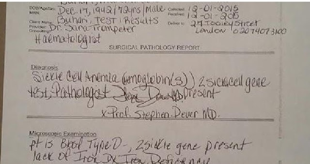 BREAKING: President Buhari's Medical Records Leaked [FULL DOCUMENTS]