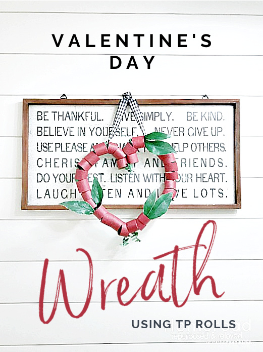 sign with wreath and Pinterest overlay