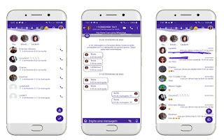 White & Purple Theme For YOWhatsApp & Fouad WhatsApp By Leidiane