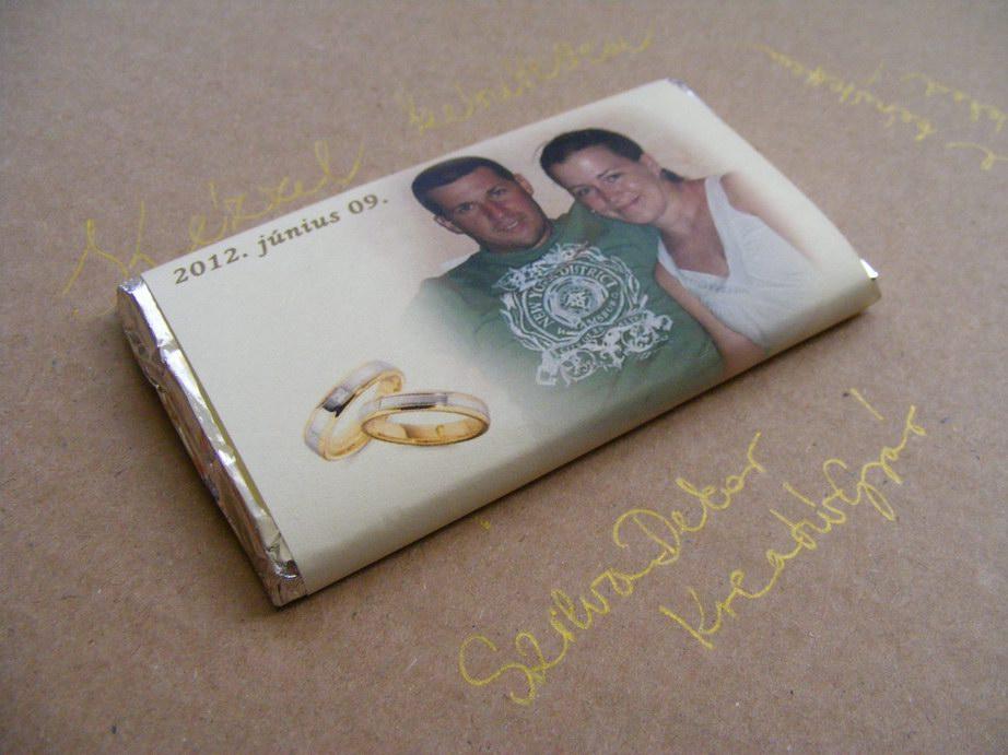 Fotós csoki köszönetajándék Lisi Joci. Egy tegnapelőtti esküvőre készült ez  a fényképes ... 3672b423b6