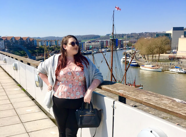 Plus size travel blogger The Owlet in Bristol city centre, UK