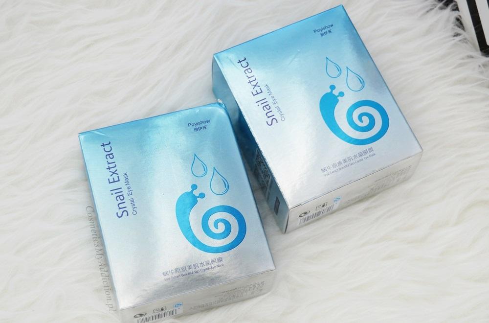SUNEW | Płatki pod oczy ze śluzem ślimaka - Intensywny zabieg przeciwzmarszkowy