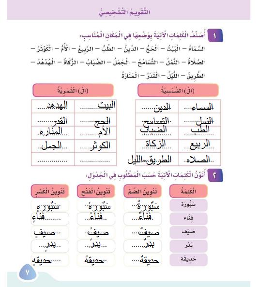 لغتي 3 ابتدائي ف1