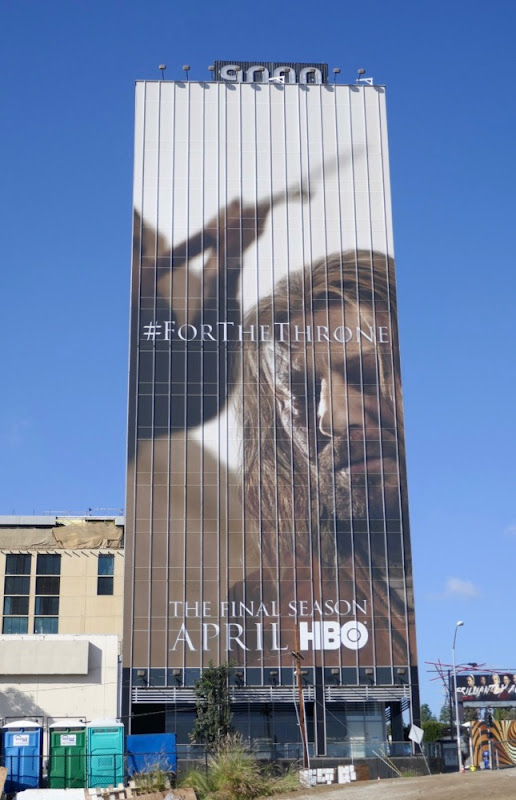 Giant Sean Bean Game of Thrones final season 8 billboard