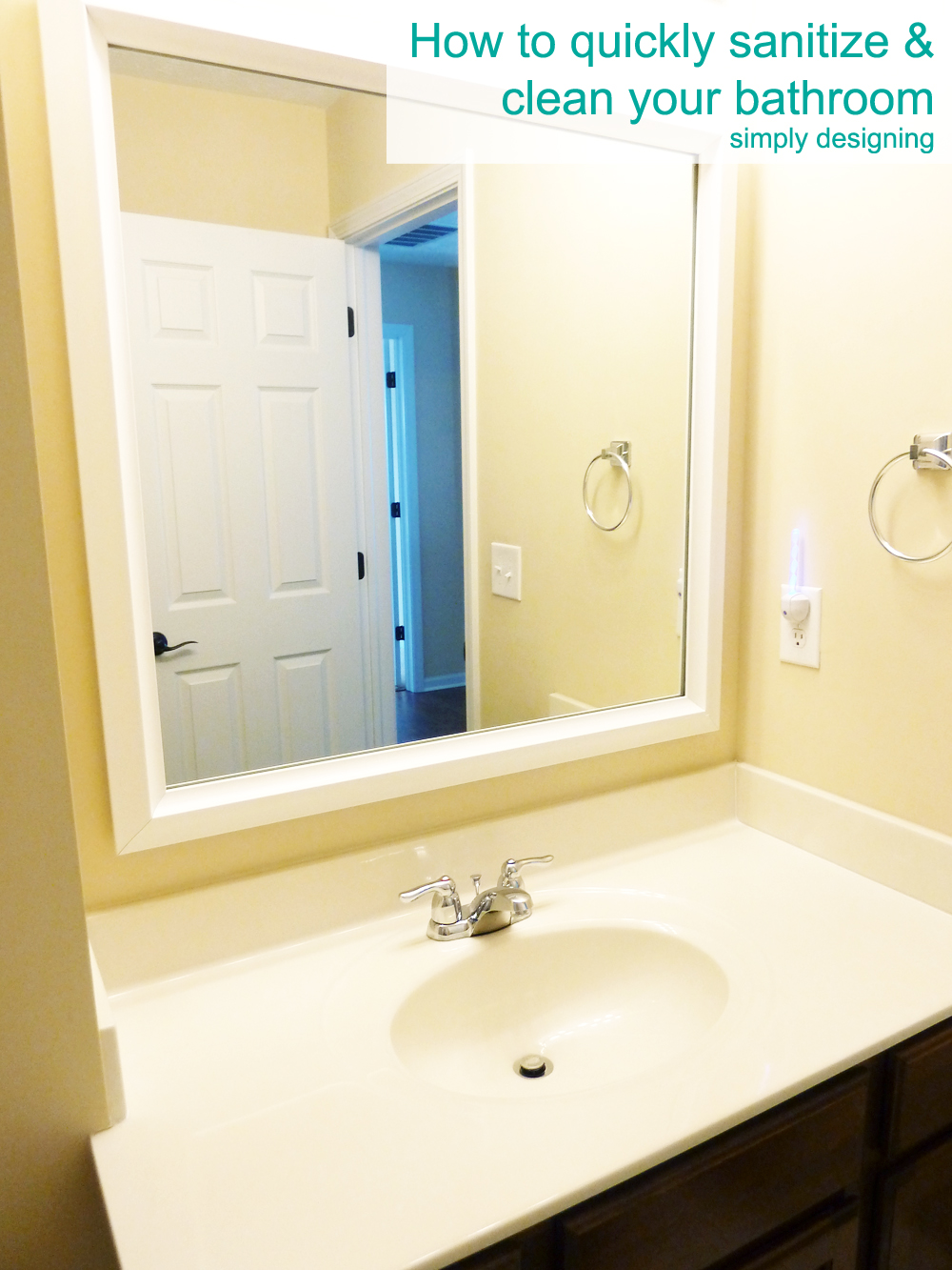 How to quickly sanitize and clean your bathroom without harsh chemicals | #cleaning  #naturalcleaning