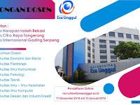 Lowongan Dosen Universitas Esa Unggul Deadline 13 Januari 2019