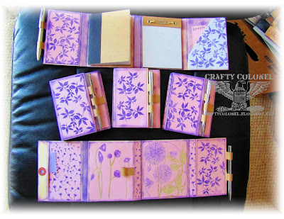 CraftyColonel Donna Nuce using Club Scrap Mobile Office Project and Botanical stamps.