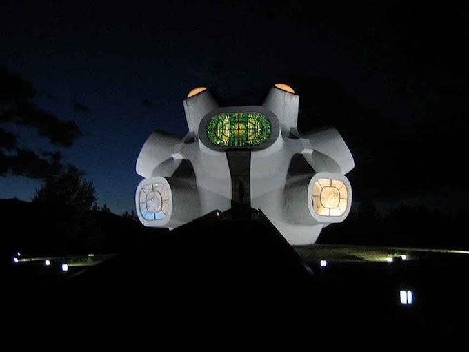 Das Ilinden Denkmal 'Makedonium' in Kruševo