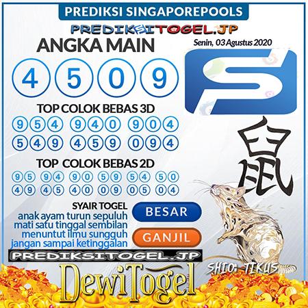 Prediksi Dewi Togel Singapura SGP Senin