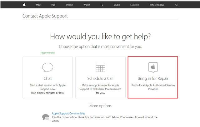 Apple Launches 'Bring in Repair'