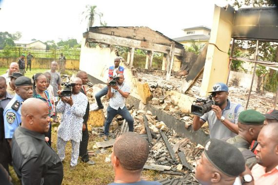 'Those who burnt INEC office in Bori are afraid of elections' – Governor Wike