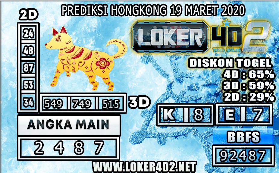 PREDIKSI HONGKONG  LOKER4D2 19 MARET 2020