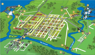 Mapa Turístico da Região