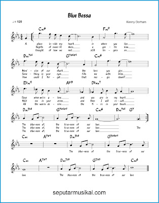 Blue Bossa chords jazz standar
