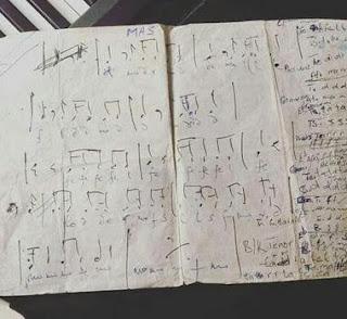 music manuscript of fela anikulapo kuti
