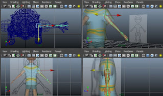 Animation tutorial, X-Ray rigging, Skeleton joints