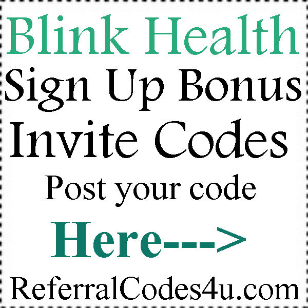 BlinkHealth.com Invite Codes 2016-2017, Blink Health Coupons August, September, October