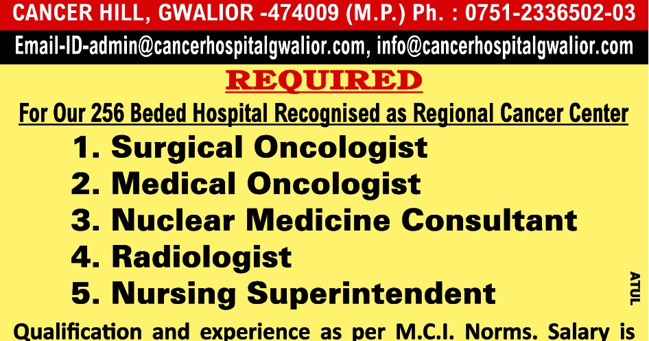 Urgent required surgical medical oncologist, Nursing