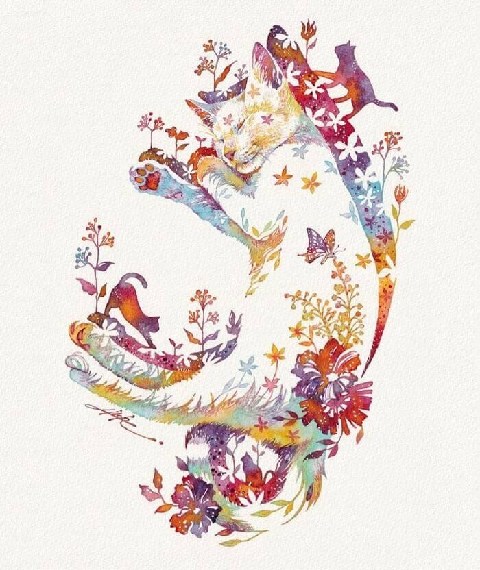 05-Sleeping-cat-dreaming-Hiroki-Takeda-タケダヒロキ-www-designstack-co