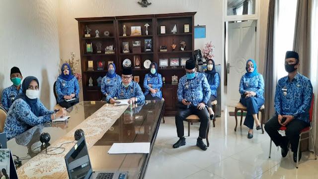 Jajaran Disdikbud Lampung Hari Ini Peringati Hardiknas Secara Virtual, Serta Pengumuman Kelulusan SMA dan SMK
