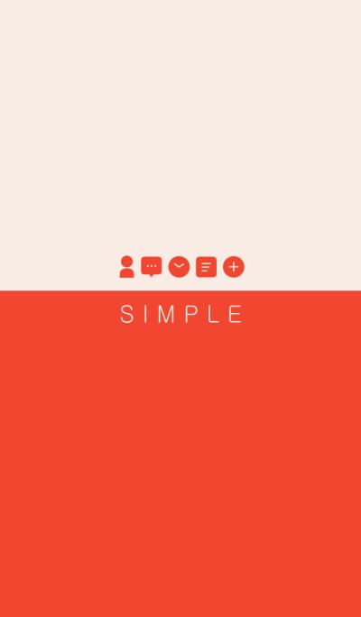 SIMPLE(red beige/ivory)
