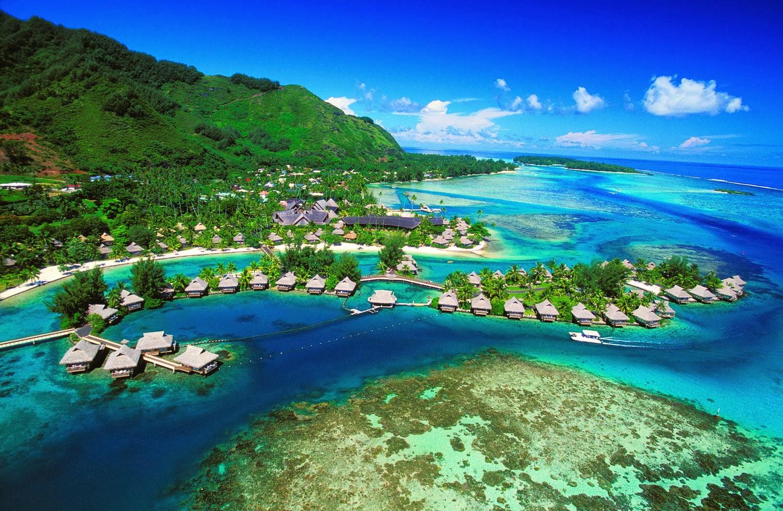 "Wallpaper: Beauty of Nature ""Tahiti Islands Resort is a ..."