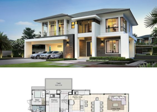 rumah minimalis plus denah
