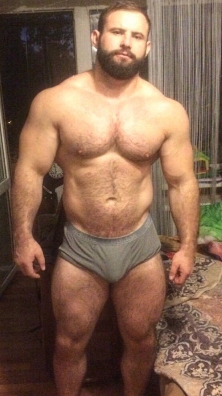 Bodybuilder Muscle Worship Sexy Hot Hairy Muscle Mens-8688