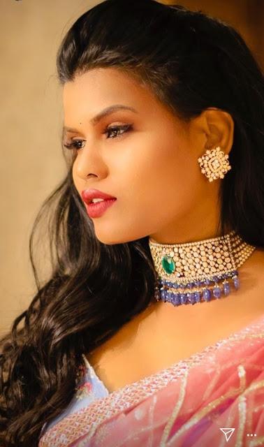 Shashi Vangapally Sapphire Drops Choker