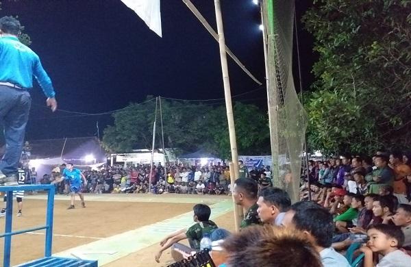 Luar Biasa, Animo Penonton Turnamen Bola Voli Koramil  Warungasem Cup