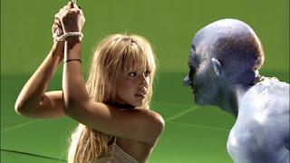 Jessica Alba durante el rodaje de Sin City