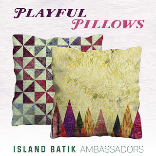 Island Batik ambassador challenge for May - pillows