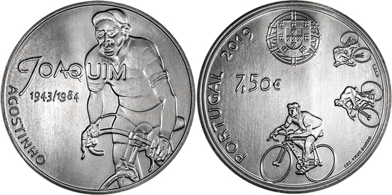 Portugal silver 7,5 euro 2019 Joaquim Agostinho