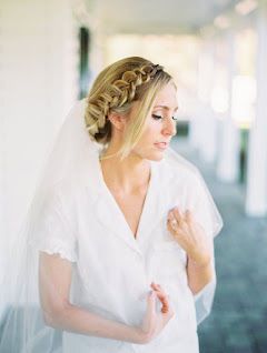 bride pictured in veil