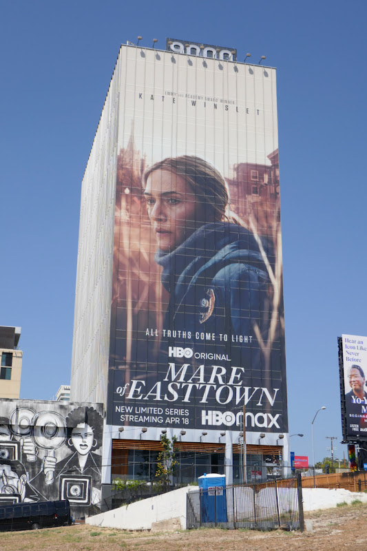 Giant Mare of Easttown HBO series billboard