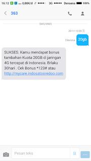 cara mendapatkan kuota 20gb secara gratis dari indosat ooredoo