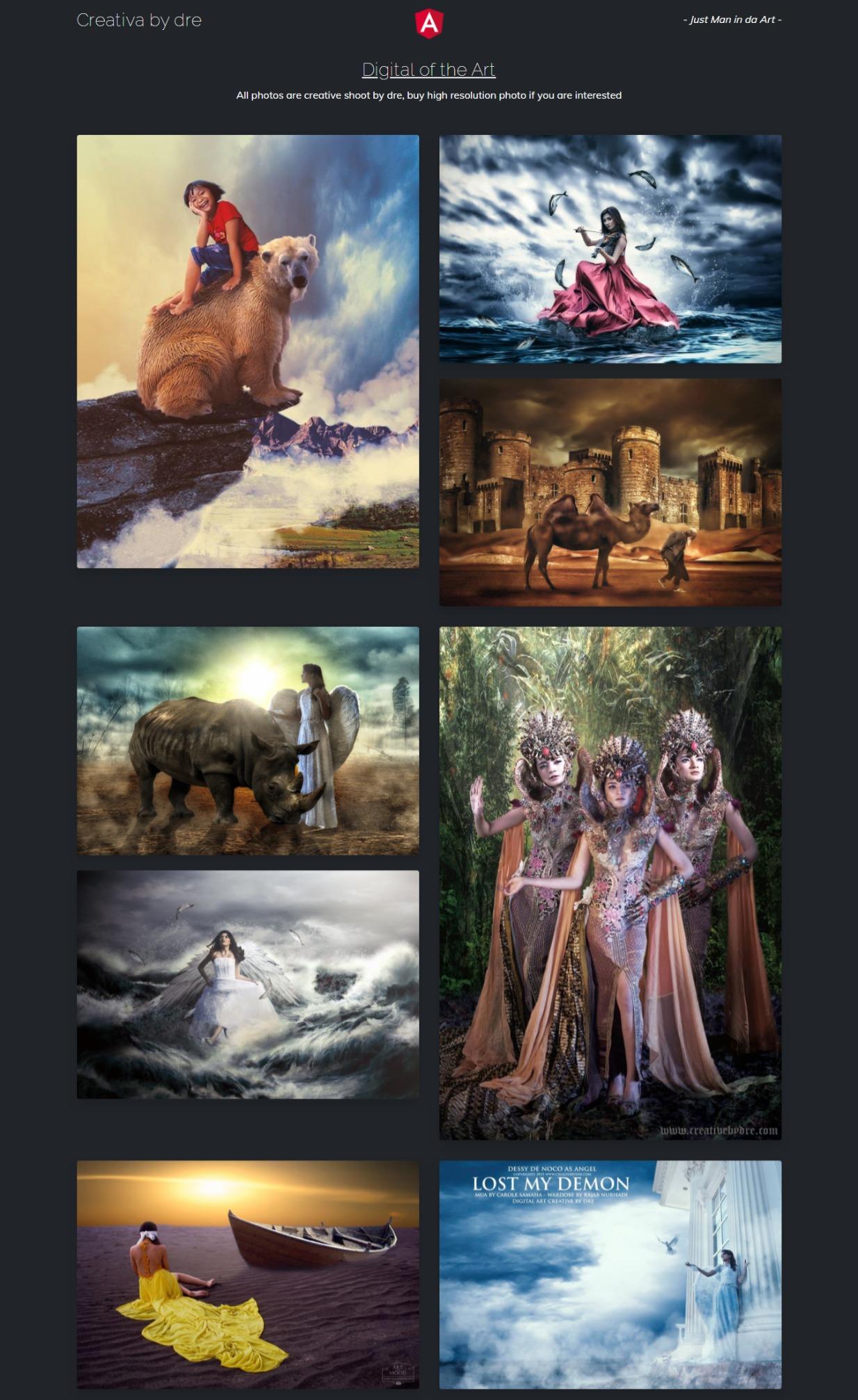Art work Portfolio website template themes free download gratis