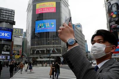 Aumento no movimento de pessoas em Tóquio
