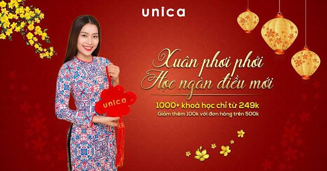 Đồng giá 249K cho 1000+ khóa học trên Unica dịp Tết 2019