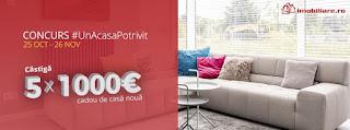Castiga 1000€ cadou de casa noua